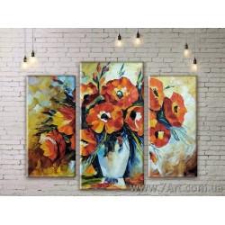 Модульные картины цветы Art. STUDM081159