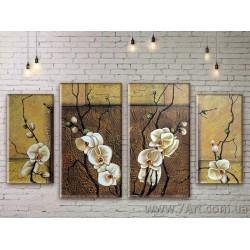 Модульные картины цветы Art. FLWM003