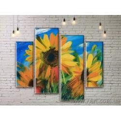 Модульные картины цветы Art. FLWM045