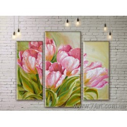 Модульные картины цветы Art. FLWM067