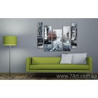 Городской пейзаж, модульные картины
